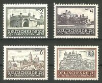 DR Nazi 3d Reich Rare WW2 Stamp Castles Tower Church Hitler Occupation GG Poland