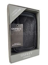 OSPREY LONDON NEW Women's Black Leather Camera or Phone Case Designer Bag Pouch