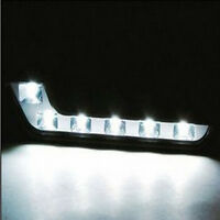 White 2X 6 LED AutoCar Auto Driving Lamp Fog 12V DRL Daytime Running Light