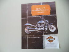 advertising Pubblicità 2002 HARLEY DAVIDSON VRSCA V-ROD
