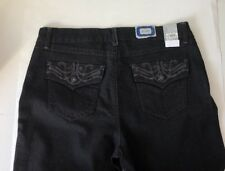 BandolinoBlu Saturated Black wash Elly Jeans Size 12 Bootcut Sr$44 New W Tags