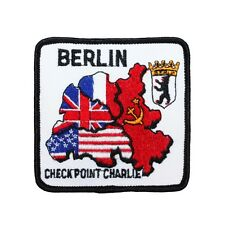 """Berlin Wall """"Checkpoint Charlie"""" Patch Cold War Site Souvenir Sew-On Applique"""