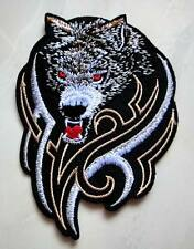 Fox Wild Wolf Tribal Tattoo Biker Racing Embroidered Iron on Patch Free Shipping
