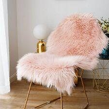 Fluffy Fur Sheepskin Rug Glam Chair Seat Cover Bedside Floor Mat Luxury Carpet