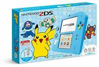 Nintendo 2DS console system Sun Moon Light Blue Pikachu Pokemon Limited Box NEW