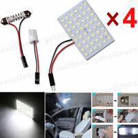 4x 48SMD LED Light Panel Interior T10 Festoon Dome Door Map Bulb Xenon White Kit