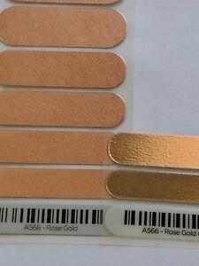 Jamberry MISPRINT ROSE GOLD Satin Metallic Half OR Full Sheet Nail Wraps Copper