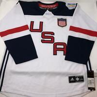 Adidas USA National Hockey Jersey World Cup 2016 Size Youth L/XL