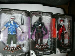 DC Collectibles Batman Arkham Knight Joker Harley Quinn 3 Figure Lot Unopened