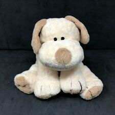 "Ty Pluffies Plopper Puppy Dog Plush Cream Tan Sewn Eyes 9"" Stuffed Lovey 2002"