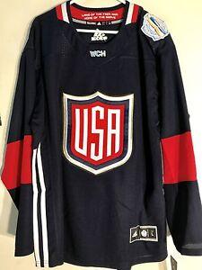 Adidas Premier World Cup Jersey United States Hockey Team Navy sz XL