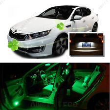 For Kia Optima w/ sunroof 2011-2015 Green LED Interior Kit +White License LED