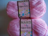 Italy Cervinia Amalfi baby yarn lot of 2 Pink 220 yds each