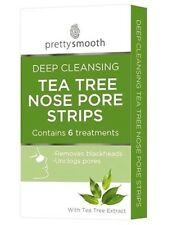 Pack Of 6 Pretty Deep Cleansing Nose Pore Strips With Tea Tree Oil