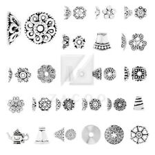 10-1000pcs Tibetan Silver End Beads Cap Flower/Cone/Round/Other Jewelry Findings