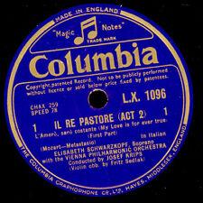 """ELISABETH SCHWARZKOPF -SOPRAN- Mozart: """"Il re Pastore"""" My love is for ever G3258"""