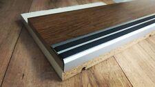 270cm - 35x19mm Treppenprofil Trittschutz + Gummi Einlage Silber eloxiert