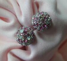 Sterling silver Chamilia Brand New pink pave stud earrings  3325-0001