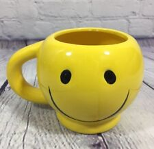 Happy Face Ceramic Cup Mug Yellow Smiley