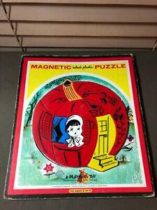"Vintage PLAYSKOOL Magnetic Inlaid Plastic Puzzle ""Pumpkin Eater""  #6580A 12 Pcs."