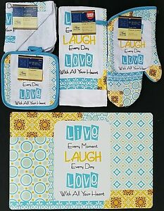 Kitchen Linen & Placemats Live Every Moment Theme, Select: Item(s)