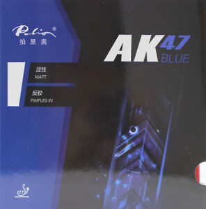 Palio AK47 BLUE Sponge 40+ Table Tennis Rubber, Pips-in, H38-40, New, USD