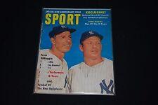 Sept 1961 SPORT Magazine-Mickey Mantle & Joe DiMaggio (Yankees) cover
