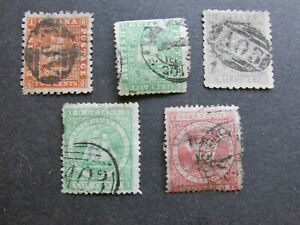 Collection of Old British Guiana Stamps 1862-65 High Values used