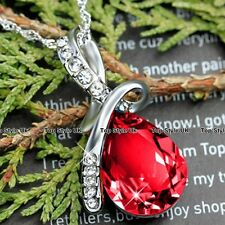 Eye Diamond Crystal Silver Necklace Pendant Chain Gifts for Her Women Mum TU1