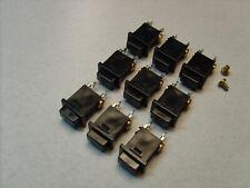 9 Nos Pacific Electronics No. Pbob Black Intercom Push Button Assy. All Work