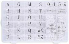 """Letter Board Letters, 713 PRE-Cut Characters (3/4""""-1"""" White) w/sorting tray"""