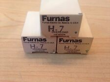 SET OF 3 NEW FURNAS H7 OVERLOAD HEATERS - NEW OLD STOCK