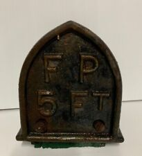 Vintage 5ft South Australian Cast Iron Fire Plug