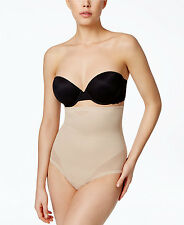 Miraclesuit Sheer Hi Waist Thong in Nude, Large