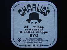 CHARLIES 24HRS RESTAURANT & COFFEE SHOPPE BYO CAVILL MALL 075 385285 COASTER