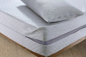NEW Luxury Anti Bed Bug Zipped Full Mattress Protector Total Encasement Cover UK