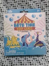 Bath Time Toy Hoop Games Water Fun Toddler 3+ Plastic Float Ring Toss Animal New
