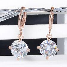 Fashion Jewelry Gold Plated Multicolor Cubic Zirconia Dangle Earrings Ear Hoop