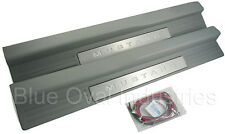 2005-2009 Mustang GT V6 Lighted Door Sill Step Plates in Dove Grey Gray w Wiring