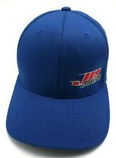JB RACING blue flex-fit fitted cap / hat - cotton blend; size L / XL