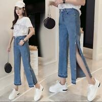 New Fashion Women Wide Leg Jeans Straight Loose Denim Pants Lady Casual Trousers