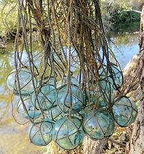 "Japanese Glass Floats 2"" Netted (19) Net Bundle Cluster Marine Matter Tiki"