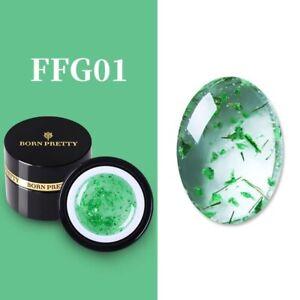 BORN PRETTY Glitter Sequins Nail Gel Polish Glow in Dark UV Dry Flower Shiny Art