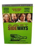 Sideways (DVD, 2005, Full Screen) NEW