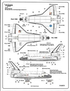 Warbird Decals Space Shuttle Added Details, Tiles, Names, Decals in 1/144 05