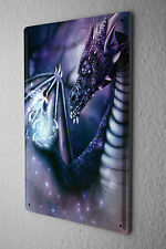 Tin Sign Fantasy Motif Dragon Fairy Fantasy Decorative Metal Plate