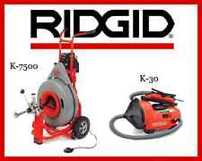 Ridgid Auto-Clean K-30 Sink Machine (34963) & Ridgid K-7500 Drum Machine (60052)