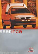 Seat Inca folleto 3 00 brochure 2000 auto turismos auto folleto folleto España