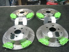 Para Toyota Celica 1.8 VVTi 140 Cruz Perforado Ranurado Discos & EBC Verde Almohadillas Cosas