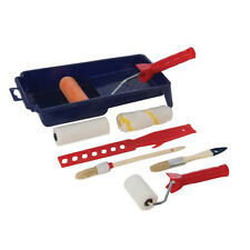 9 Piece Decorators Roller & Brush Set - Rollers, Sleeves, Brushes, Tray, Mixer